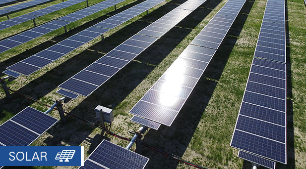 solar panels in northern Virginia