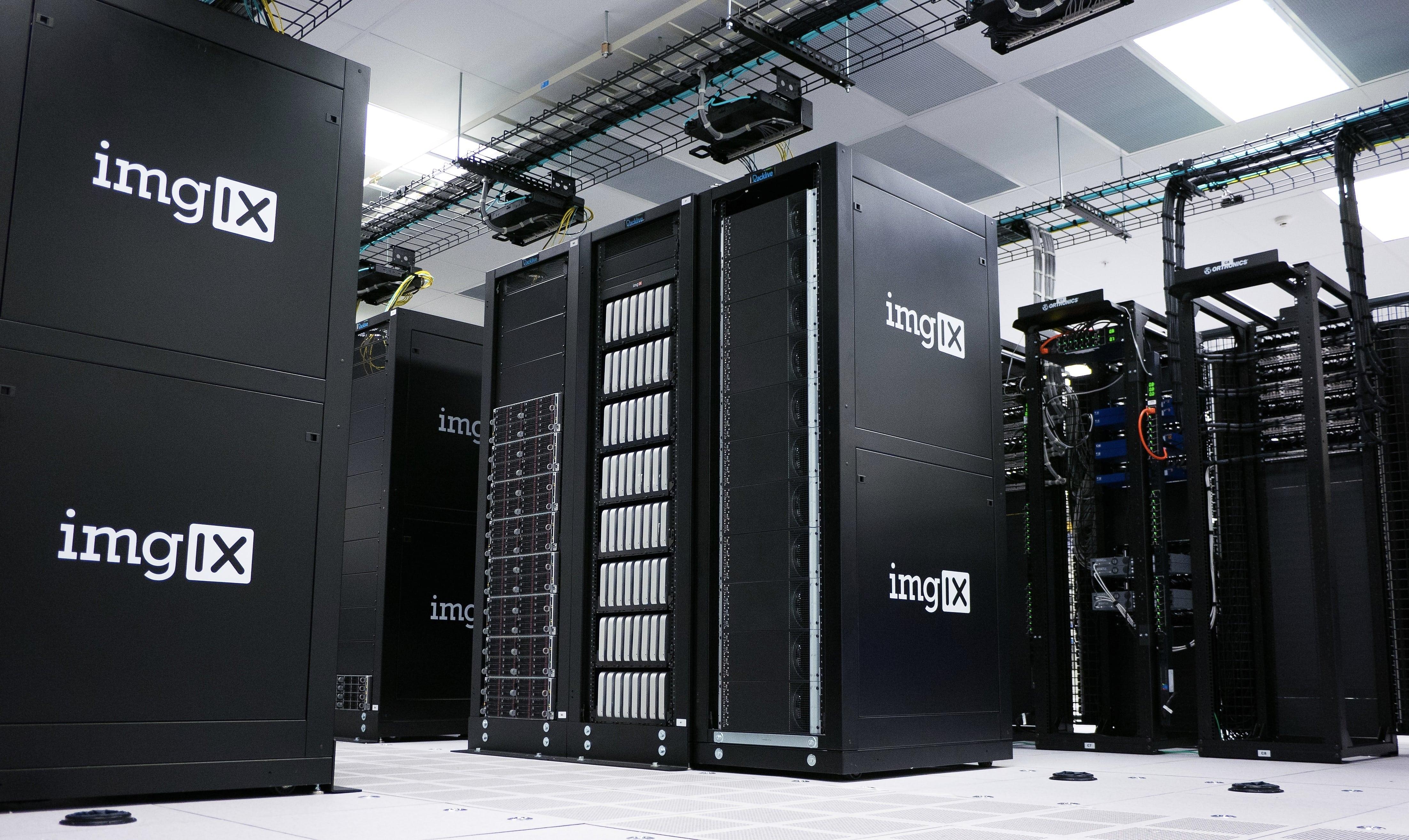 colocation data center stacks or servers